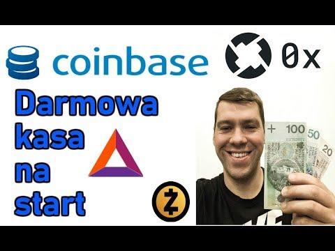 Darmowe Kryptowaluty BAT, zCash, ZRX na CoinBase, zgarnij darmowe pieniądze