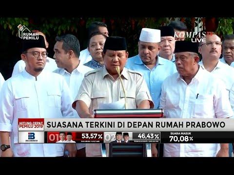 Prabowo: Ada Lembaga yang Berupaya Giring Opini Seolah Kita Kalah
