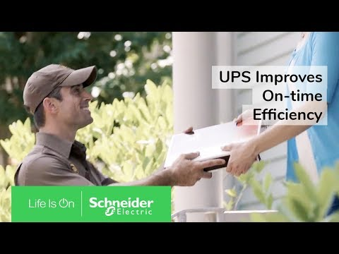 UPS Improves Warehouse Efficiency With IoT-Enabled EcoStruxure Solutions | Schneider Electric