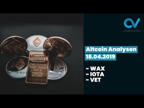 Altcoin Analysen zu WAX, Iota und VET