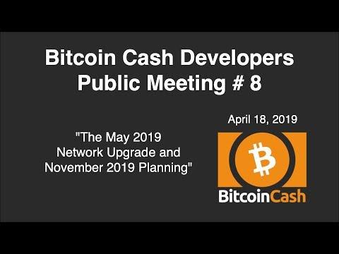 Bitcoin Cash Development video meeting #8 – April 18, 2019