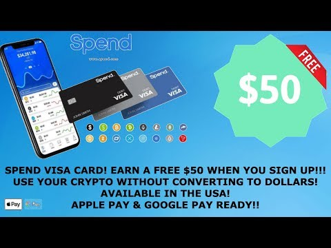 FREE $50! SPEND APP CRYPTO DEBIT CARD! USE YOUR TRON TRX RIPPLE XRP BITCOIN & MORE! AVAILABLE IN US!