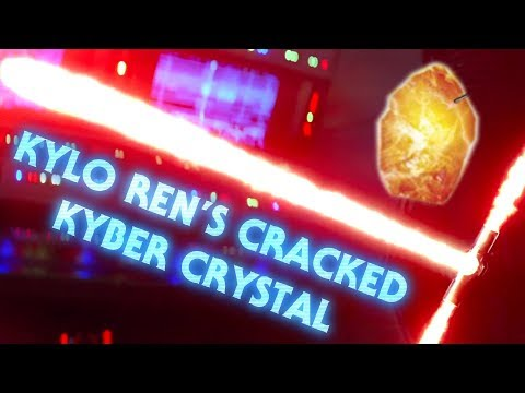 Why is Kylo Ren's Kyber Crystal Cracked?
