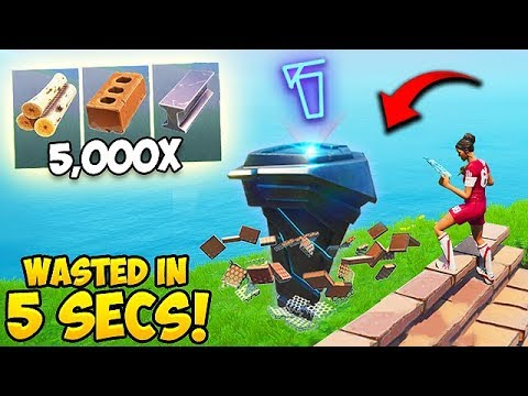 *NEW RECORD* Wasting 5000 Materials in 5 seconds! – Fortnite Funny Moments! #533