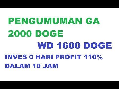 SUCCESS WITHDRAW 1600 DOGE [ INVES 0 HARI PROFIT 110% DALAM 10 JAM ]