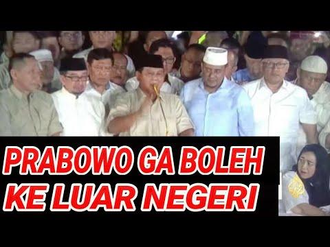 PRABOWO GA BOLEH TINGGALKAN INDONESIA OLEH HBB R!ZIEQ SYIHAB;ADA APA?PILPRES 2019,JOKOWI MARUF AMIN