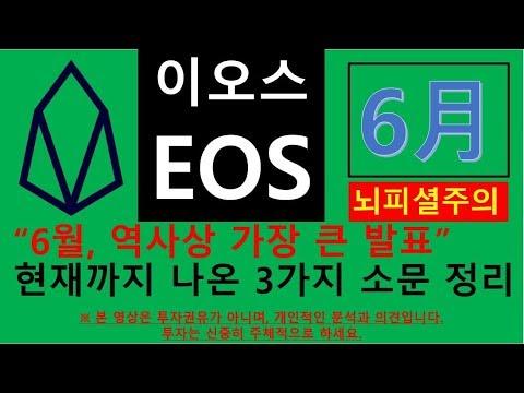 이오스 EOS, 블록원(Block.one) 6월 중대발표 소문 3가지 정리