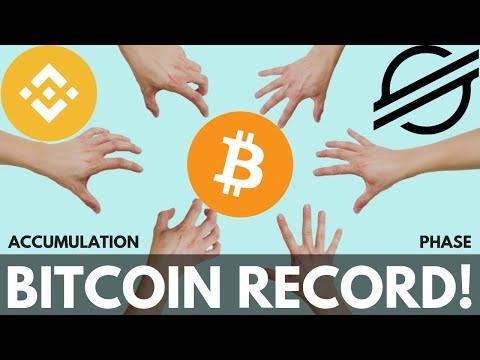 Bitcoin Accumulation Before Next Bull Run, Stellar Lumens, Binance Chain, BTC Record and More!