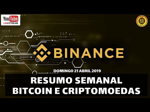 Resumo Semanal BITCOIN e CRIPTOMOEDAS – 21 ABRIL 2019 (BINANCE COIN)