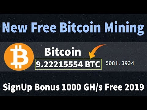 New Free Bitcoin Cloud Mining Site 2019 | 1000GH/s SignUp Bouns