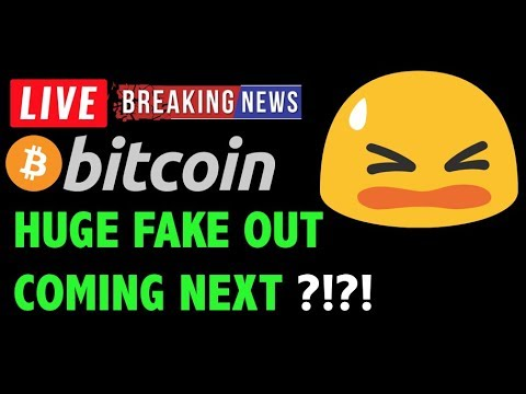 Bitcoin Price HUGE FAKE OUT MOVE NEXT?! -LIVE Crypto Trading Analysis & BTC Cryptocurrency News 2019