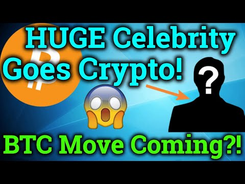 HUGE Celebrity Invests In Cryptocurrency?! Bitcoin Big Move Coming?! BTC Bitmex Trading + News