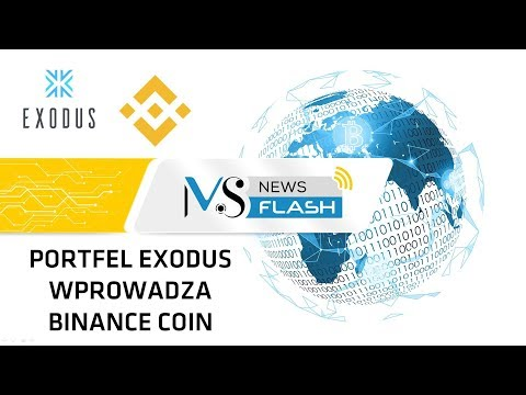 NewsFlash – Portfel Exodus wprowadza Binance Coin