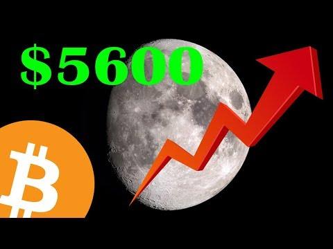 BITCOIN PUMPING – Shattered $5600!