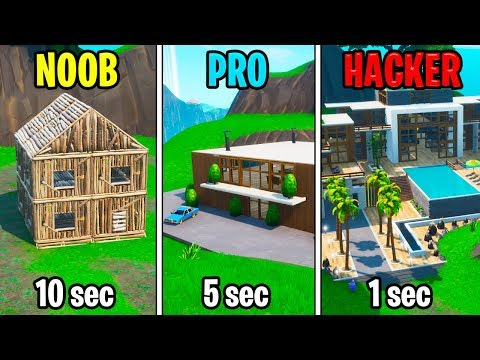 NOOB vs PRO vs HACKER – Fortnite: Modern House Challenge