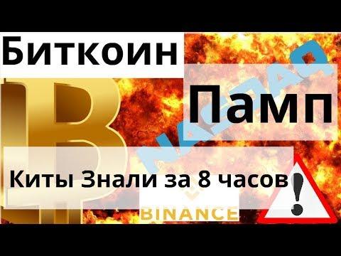 Памп Биткоина Киты Знали за 8 часов , сжигание 5000000 binance coin и Bitcoin – Nasdaq уже связка