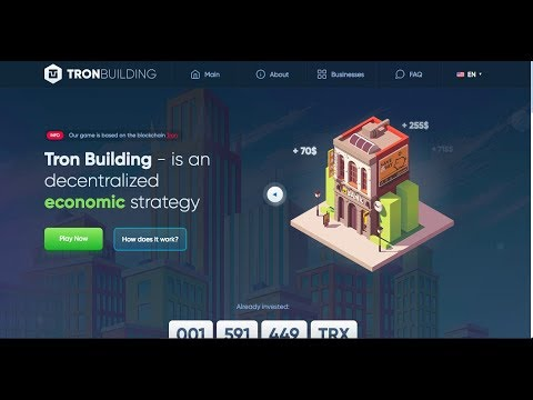 TRON BUILDING! NEW DAPP ON THE TRX BLOCKCHAIN!