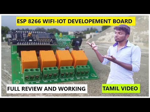 Home Automation using ESP8266 IoT wifi developement board review | students corner| tamil | gkwave