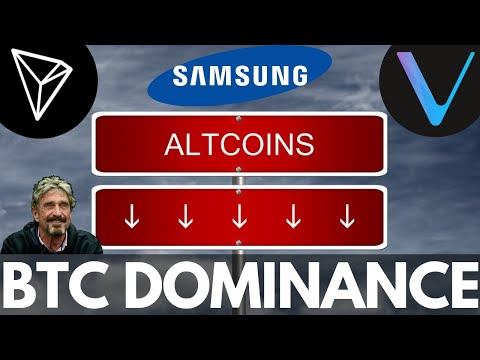 Bitcoin Dominance, HUGE Tron Partnership, Altcoins Crashing, VeChain, Samsung, McAfee