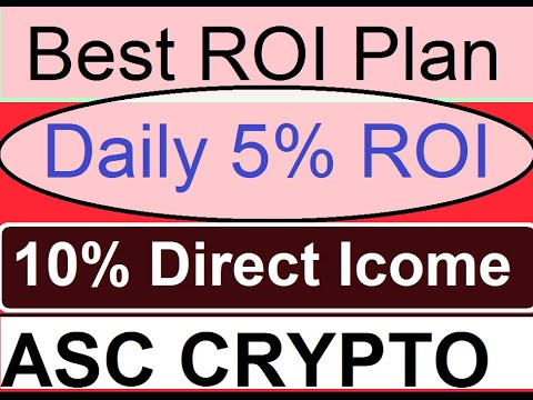ASC Coin, ASC Crypto Currency, 5% Daily ROI, Withdrawal Request, Activate ID, Direct 10%, 9625287004