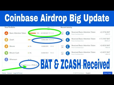 Coinbase Airdrop Big Update | Claim $50 XLM, $10 BAT Token, $3 ZCASH And $3 Ox Free | RCV Technical