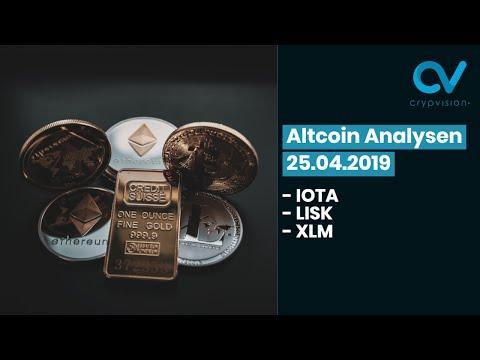 Altcoin Analysen zu IOTA, LISK und XLM! 🚀