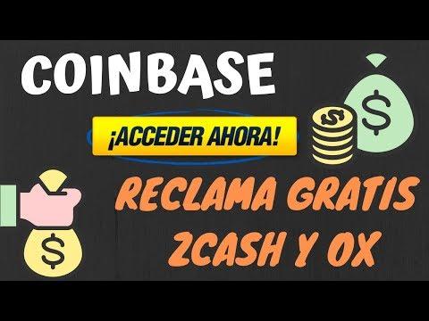 Coinbase promocion 3 Dolares en Zcash y OX