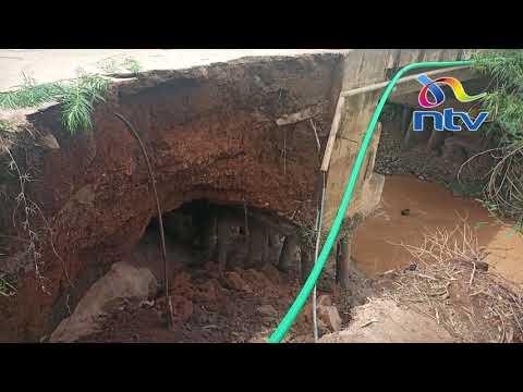 Fears as Kibos bridge in Kisumu on the verge of collapse
