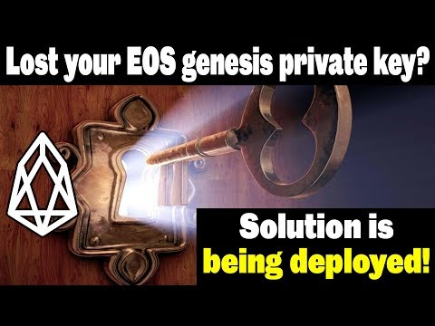 Lost EOS Genesis Private Keys – Major Update – Key Swap Solution Being Deployed