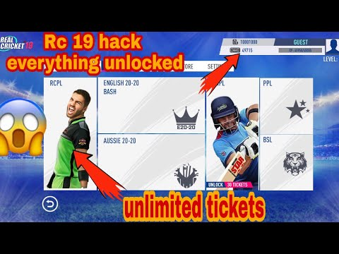 Real cricket 19 hack| everything unlock| unlimited coins and ticket