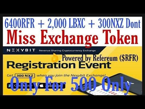 6400RFR + 2,000 LBXC + 300NXZ NEW EXCHANGE Dont' Miss Exchange Token
