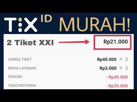 Pakai TIX ID. 2 tiket nonton cuma 20 ribuan!