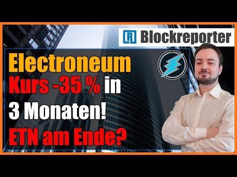 Electroneum Preis fällt um 35% in 3 Monaten | Blockreporter deutsch kryptowährung