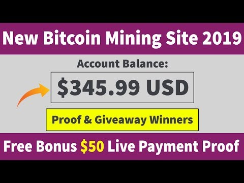 New Free Bitcoin Mining Site 2019 | Live Giveaway & Payment Proof 2019
