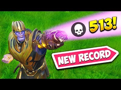 *NEW RECORD* 513 KILLS AS THANOS! – Fortnite Funny Fails and WTF Moments! #540