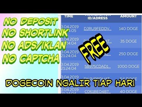 Doge NGALIR.!!! Situs Mining Penghasil Uang DOGECOIN Gratis 2019 | Tanpa deposit