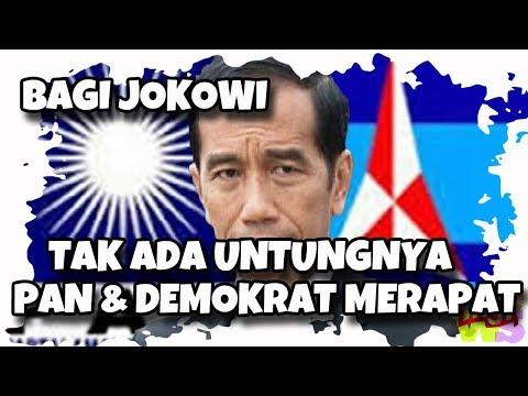 Analisa Politik : Tak Ada Untungnya Bagi Jokowi Jika PAN dan Demokrat Merapat