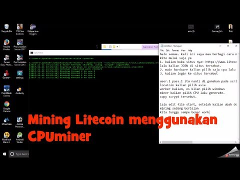 MINING LITECOIN – Tutorial Menambang Litecoin menggunakan CPUMiner