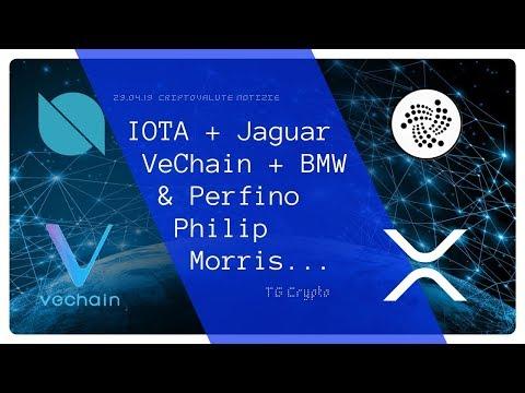 IOTA con Jaguar  VeChain con BMW  & Perfino Philip Morris | TG Crypto