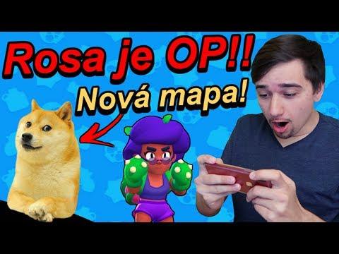 Brawl Stars CZ/SK | ROSA JE OP!! Nová Doge Mapa! | Jakub Destro