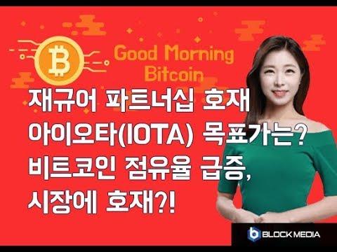 [굿모닝 비트코인] 0430 아이오타(IOTA) 가격 분석, 비트코인 점유율 급증 시장엔 호재?
