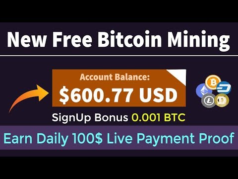 New Free Bitcoin Mining Site 2019 SignUp Bonus 0.001 BTC | Earn Daily 100$ Live Payment Proof