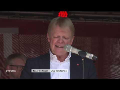 DGB-Kundgebung: Rede von Reiner Hoffmann und Studio-Talk mit Prof. Alexander Spermann am 01.05.19