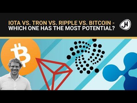 IOTA vs. Tron vs. Ripple vs. Bitcoin… – Which one has the most potential?