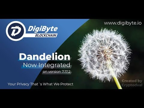 DigiByte – Dandelion is LIVE! – GiveAway Winners! – Other major News!