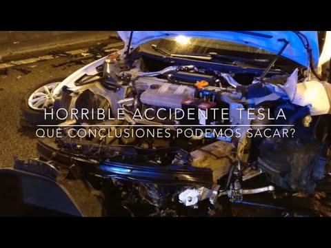 Horrible accidente Tesla en BCN