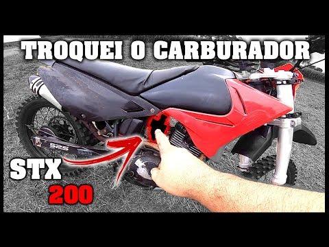 TROQUEI O CARBURADOR DA STX 200 – TGS NA TRILHA