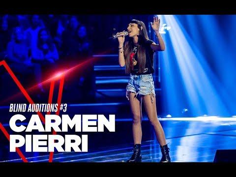 """Carmen Pierri  """"Fa che non sia mai"""" – Blind Auditions #3 – TVOI 2019"""