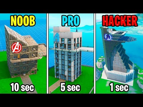 NOOB vs PRO vs HACKER – Fortnite: Avengers Tower Challenge