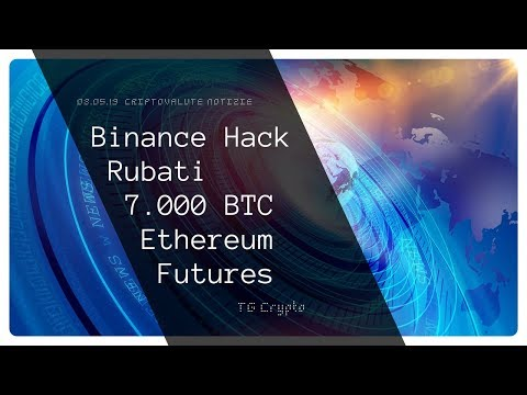 Binance Hack Rubati 7.000 Bitcoin | Ethereum Futures | TG Crypto